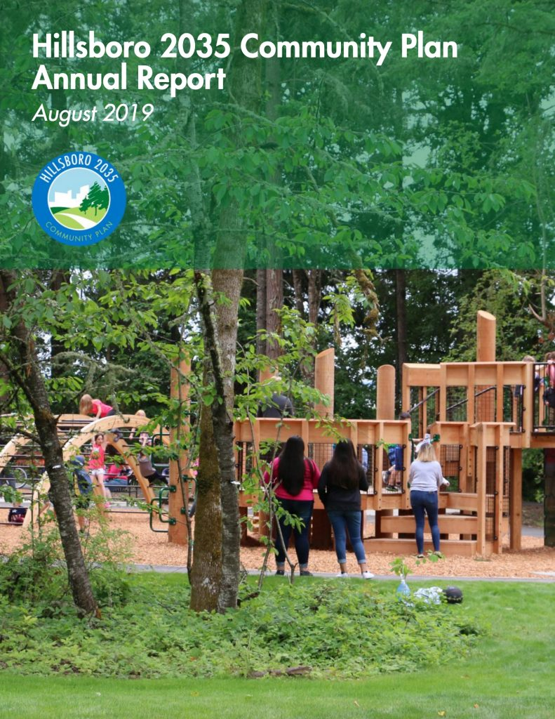Hillsboro 2035 Community Plan Annual Report 2019 Cover