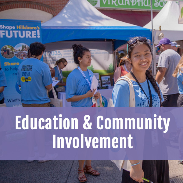 Education & Community Involvement