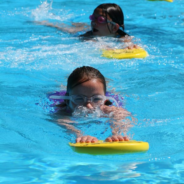 Young girls swimming at SHARC
