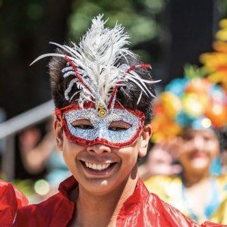 Latino dancer at Pride Party